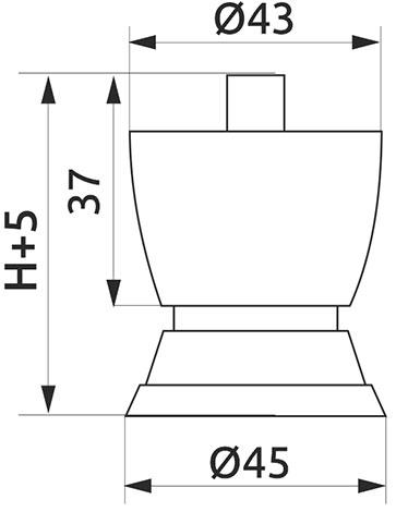 Опора регулируемая фигурная GIFF PN0166 H=55 сатин