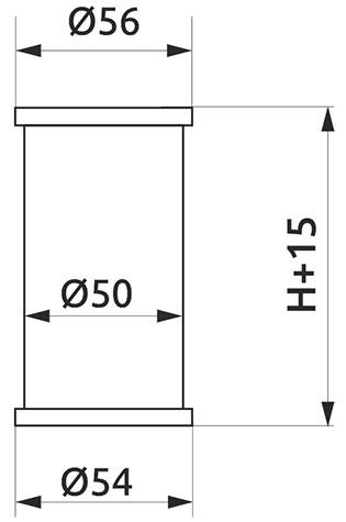 Опора регулируемая цилиндрическая Giff NA11 Т2 Н=100 алюминий