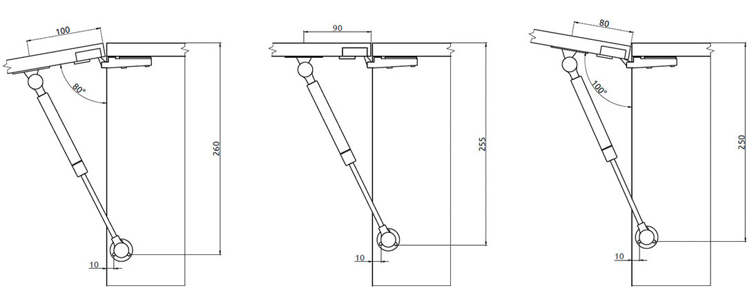 Подъемник Giff Alto газовый фрикционный L=245 мм 60 N белый