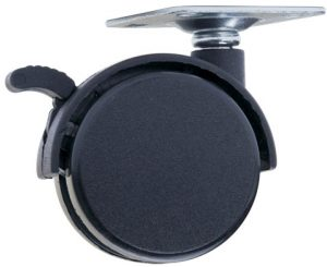 Ролик с площадкой и тормозом Giff Mobili d=40 черный