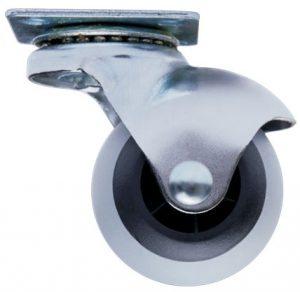 Ролик с площадкой резиновый круглый Giff Industry d=40 серый
