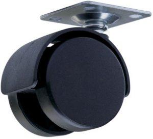 Ролик с площадкой Giff Mobili d=40 черный